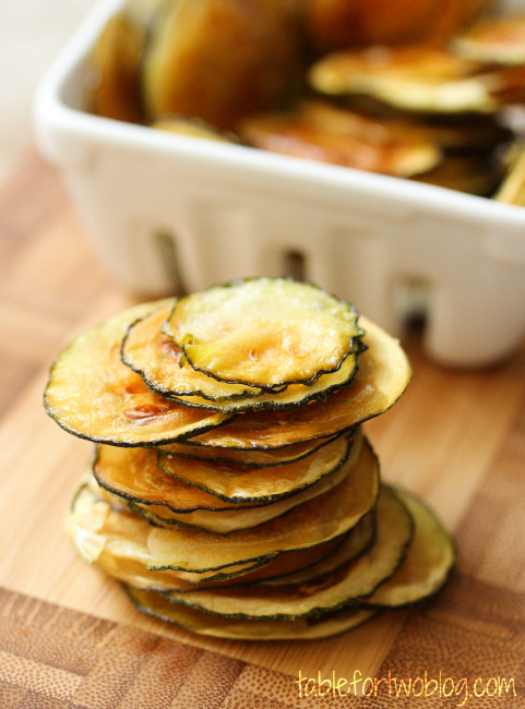 Baked Zucchini Chips from Table for Two.