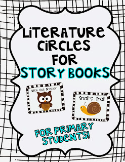 http://www.teacherspayteachers.com/Product/Literature-Circles-for-the-Primary-Grades-215445