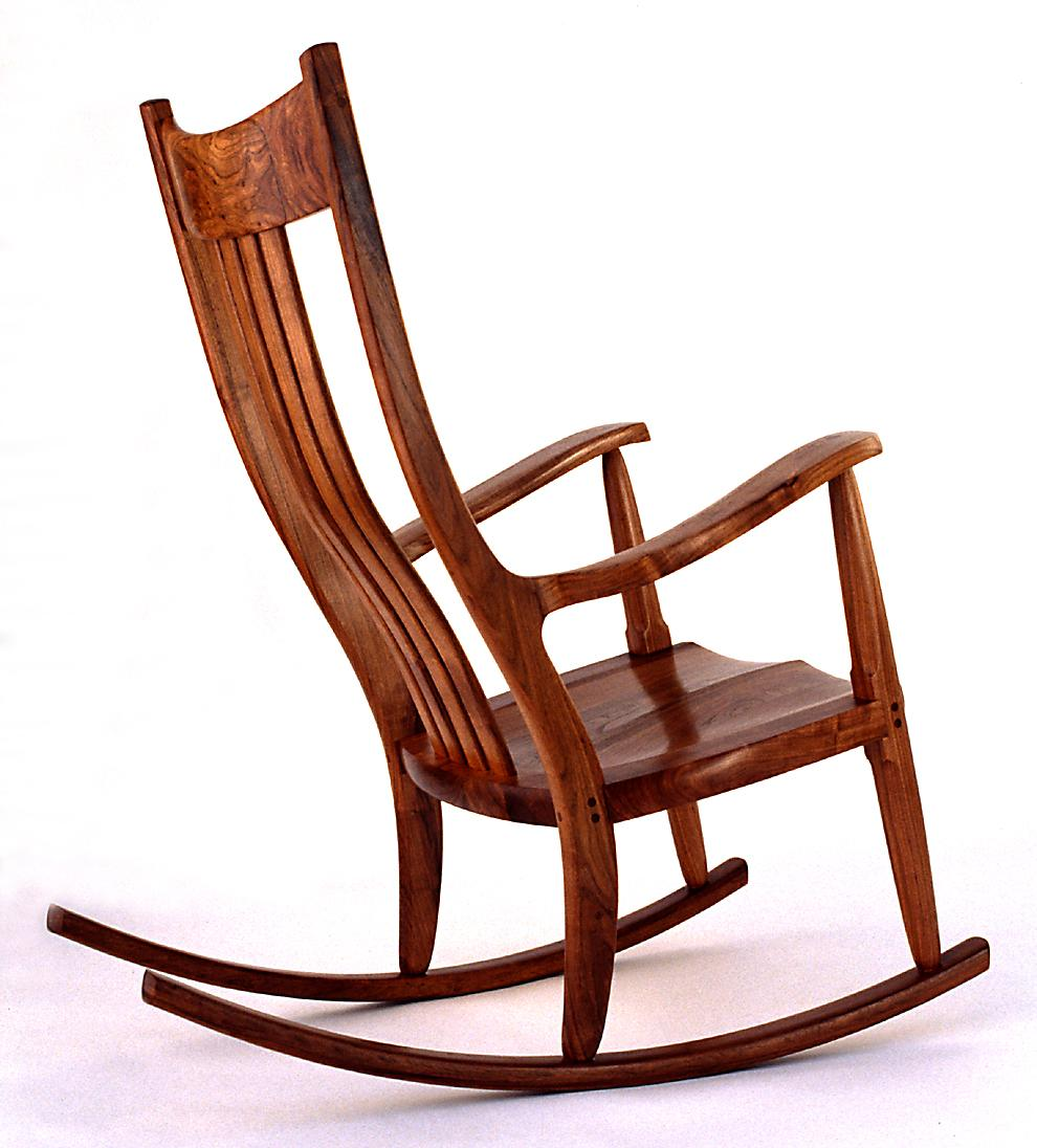 Wooden rocking chair home design elements