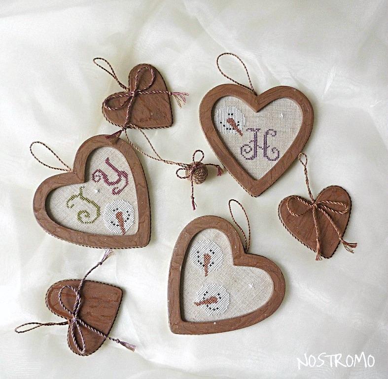 сердечки вышивка