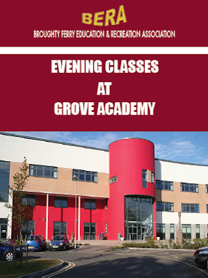 Broughty Ferry Education and Recreation Association evening classes at Grove Academy, Dundee