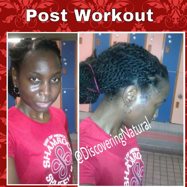 Discoveringnatural Workout Hairstyle With Havana Twists On Natural Hair