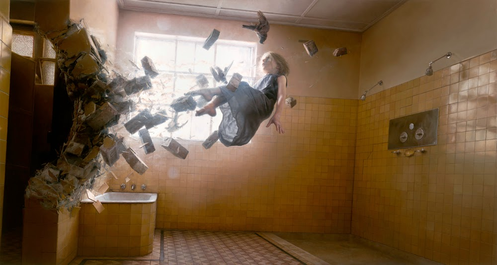 01-Acedia-Jeremy-Geddes-Body-Weightlessness-in-Surreal-Paintings-www-designstack-co