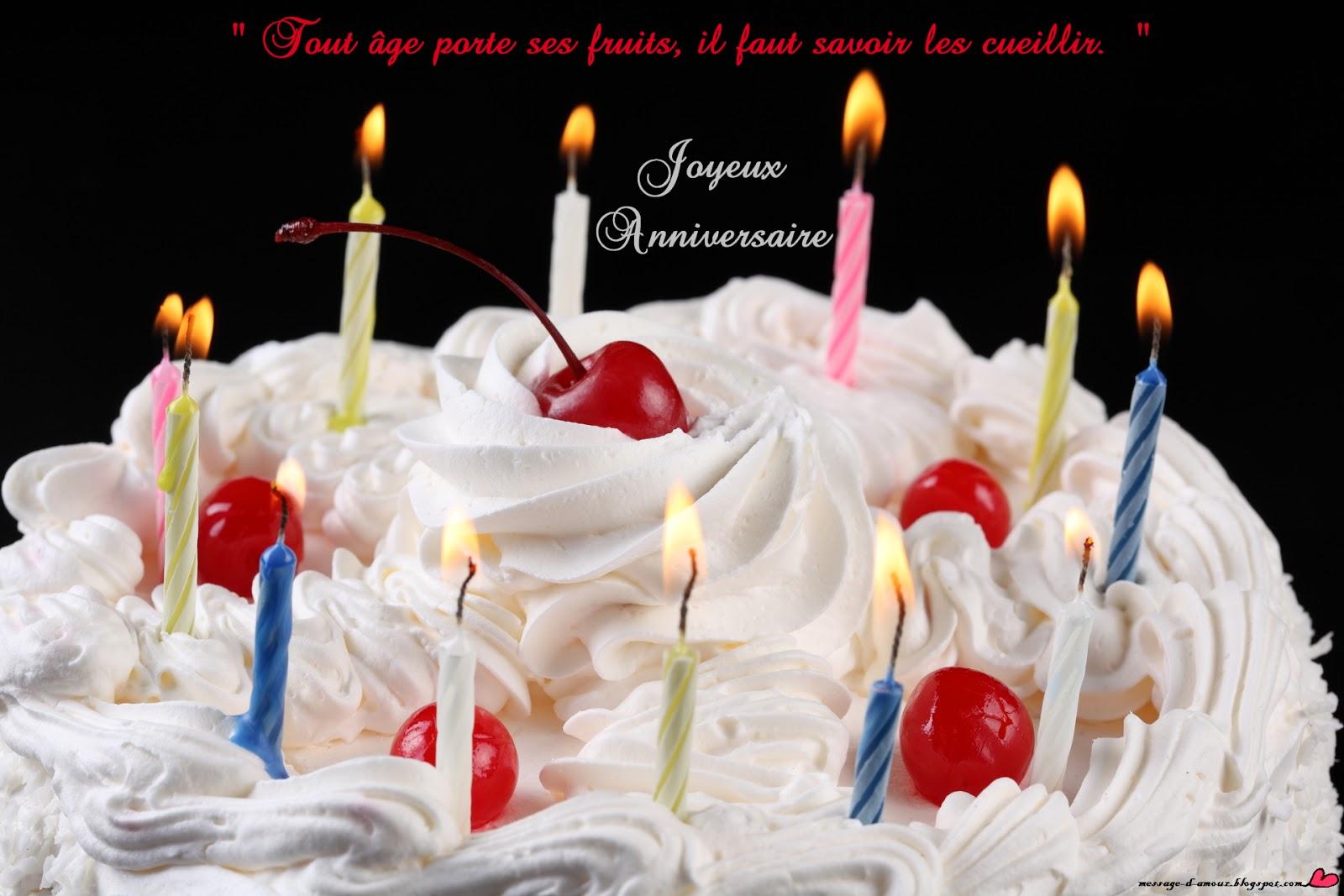 Favori Joyeux anniversaire message - Message d'amour FO39
