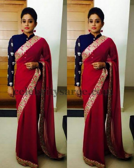 Priyamani in Full Sleeves Blouse
