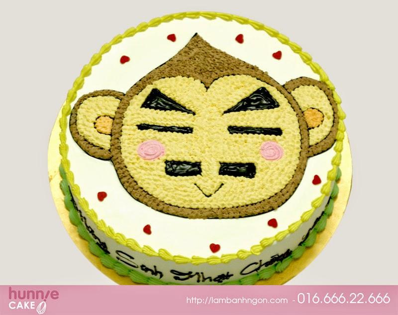 Bánh sinh nhật hình con khỉ