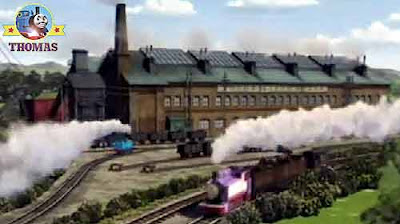 Northwestern Railways Island of Sodor steamworks friends Thomas the train and Rosie the pink engine