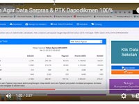 Video Tutorial Cara Agar Data Sarpras & PTK Dapodikmen 100%