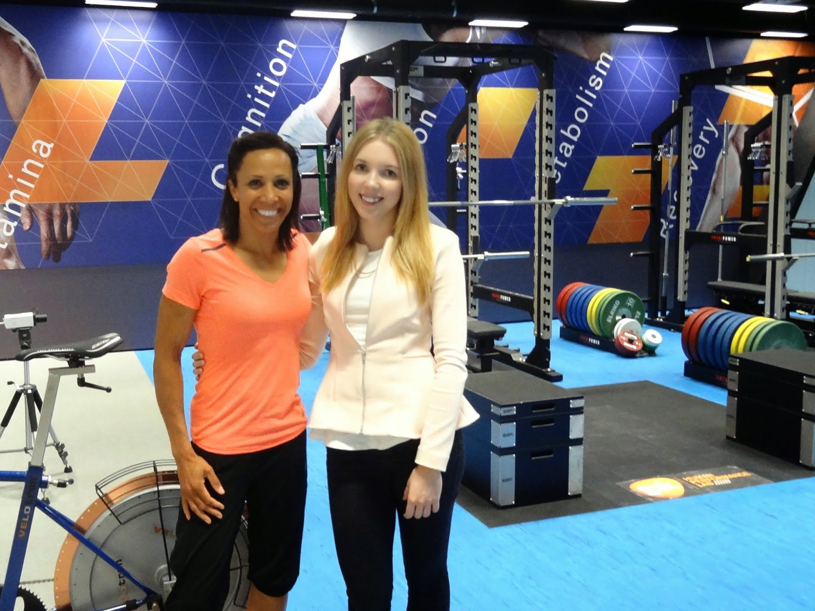 Dame Kelly Holmes with The Blonde Ethos Natalie