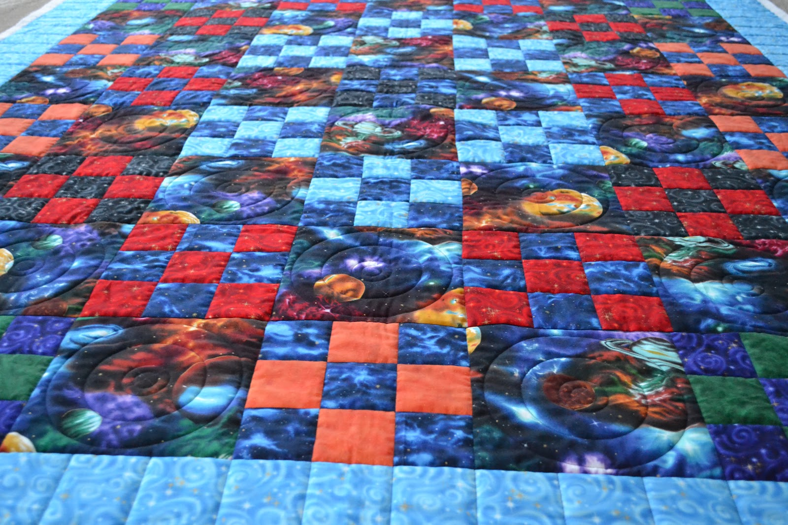 Michelle 39 s quilts stuff time is flyin 39 for Space fabric quilt