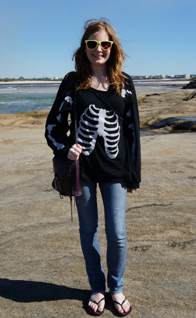away from blue wildfox skeleton tee skinny jeans RM MAC