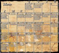 Calendario del Costal (Marzo)