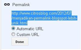 Permalink Blogspot