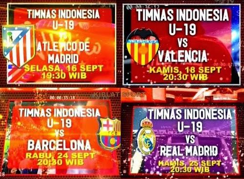 Jadwal & Siaran Langsung Timnas Indonesia U-19 Tour Spanyol