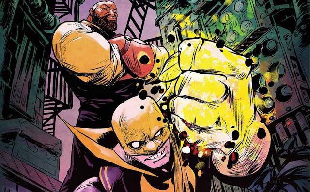 A Marvel divulgou a arte de Punho de Ferro e Luke Cage, heróis que estarão em Os Defensores, da Netflix