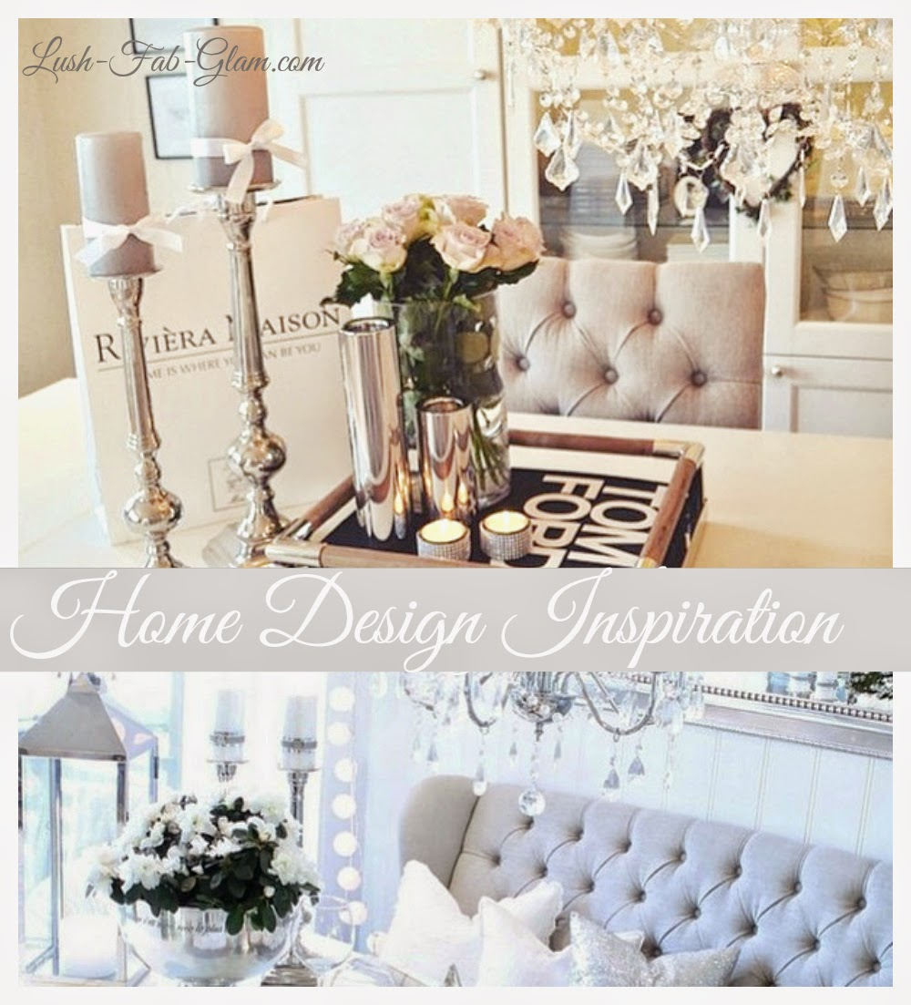 Lush fab glam blogazine home design inspiration fabulous for Dining table decoration images
