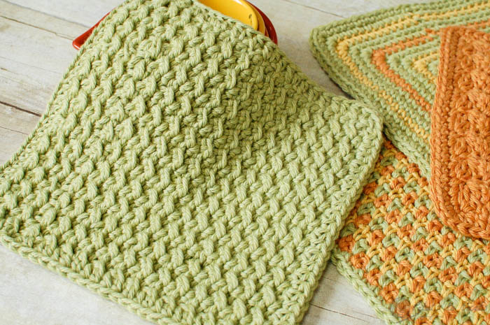 Crocheting Dishcloths For Beginners : Fiber Flux: 30 Free Crochet Dishcloth Patterns!