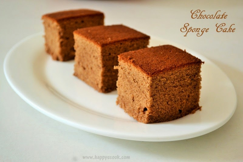 Chocolate sponge cake recipe happy 39 s cook for Chocolate sponge ingredients