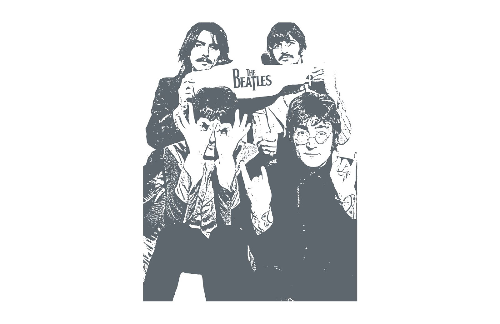 the_beatles-poster_band_front_vector
