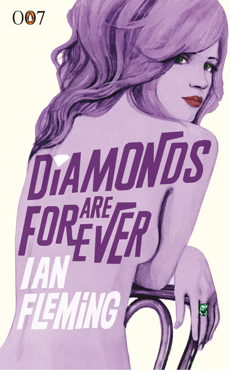 James Bond Book Cover Art ~ At the scene of crime reloaded diamonds are forever