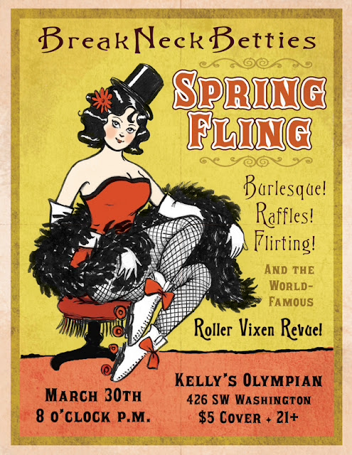 roller derby poster