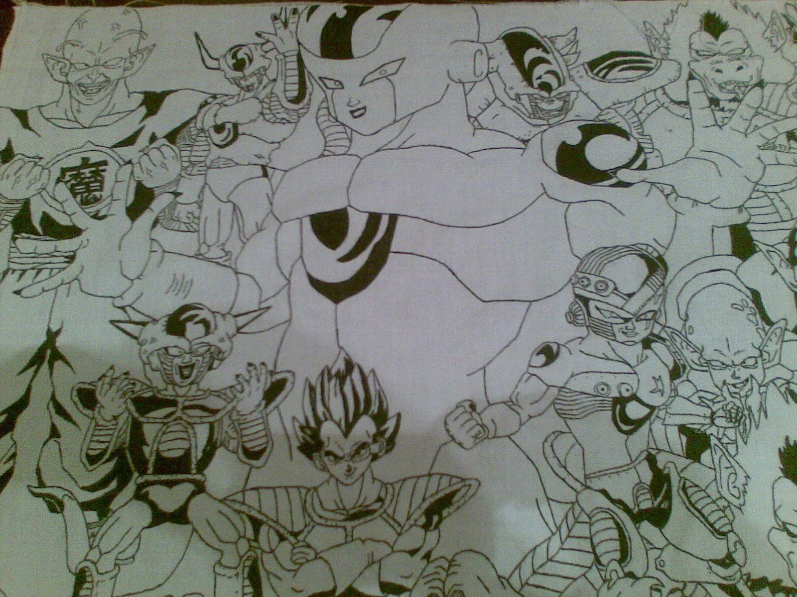 Mural de dragon ball y otros dibujos mios el mundo de for Como dibujar un mural en la pared