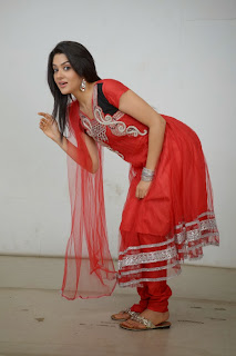 Actress Sakshi Choudhary Latest Picture Gallery in Red Salwar Kameez 0042.JPG
