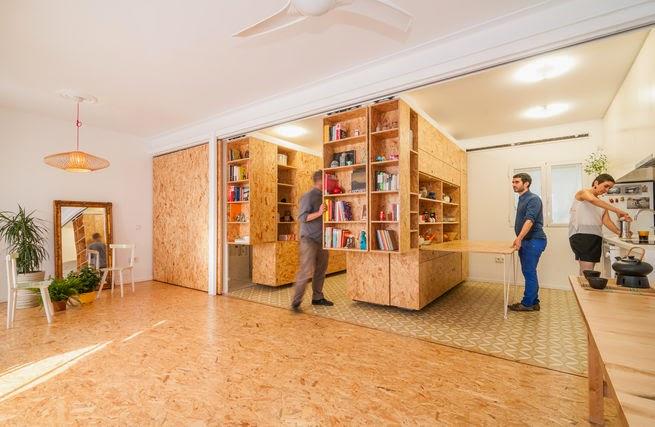 Rollende Raumteiler als Platzlösung kleiner Wohnungen - kompaktes Design zum Selbermachen