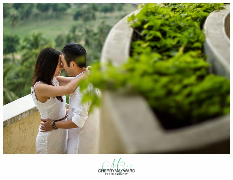 villa serendipity engagement, beautiful engagement photos in thailand, Couple photos in a private villa on a hill
