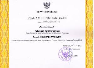 Piagam Lomba Tingkat Kabupaten