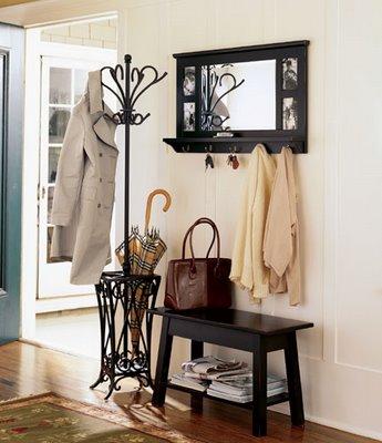 Goodbye house hello home blog how to create a foyer - Perchero recibidor antiguo ...