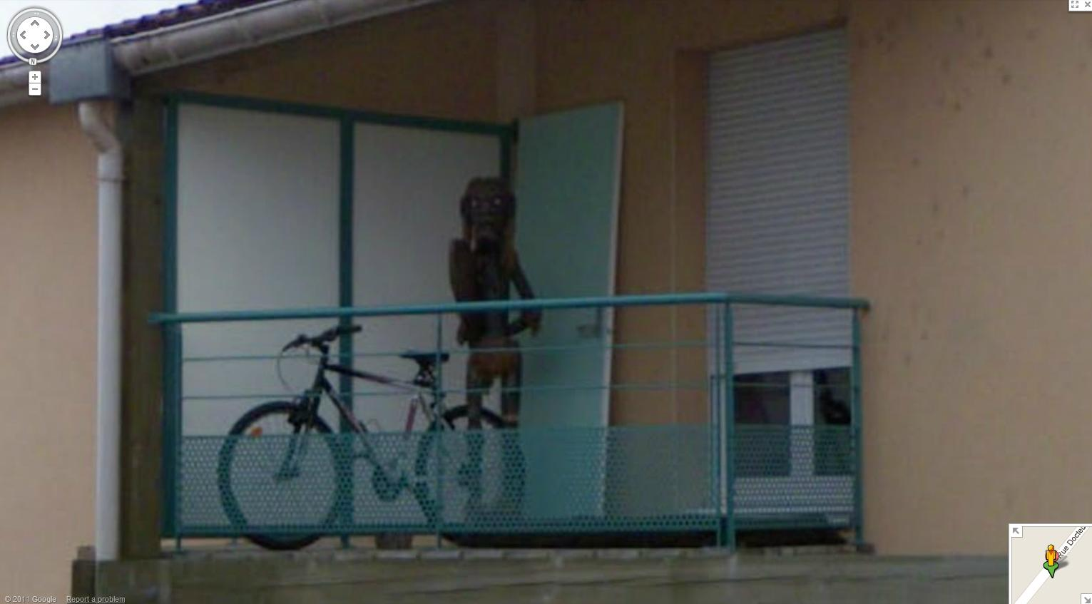 Странное существо в Google Maps