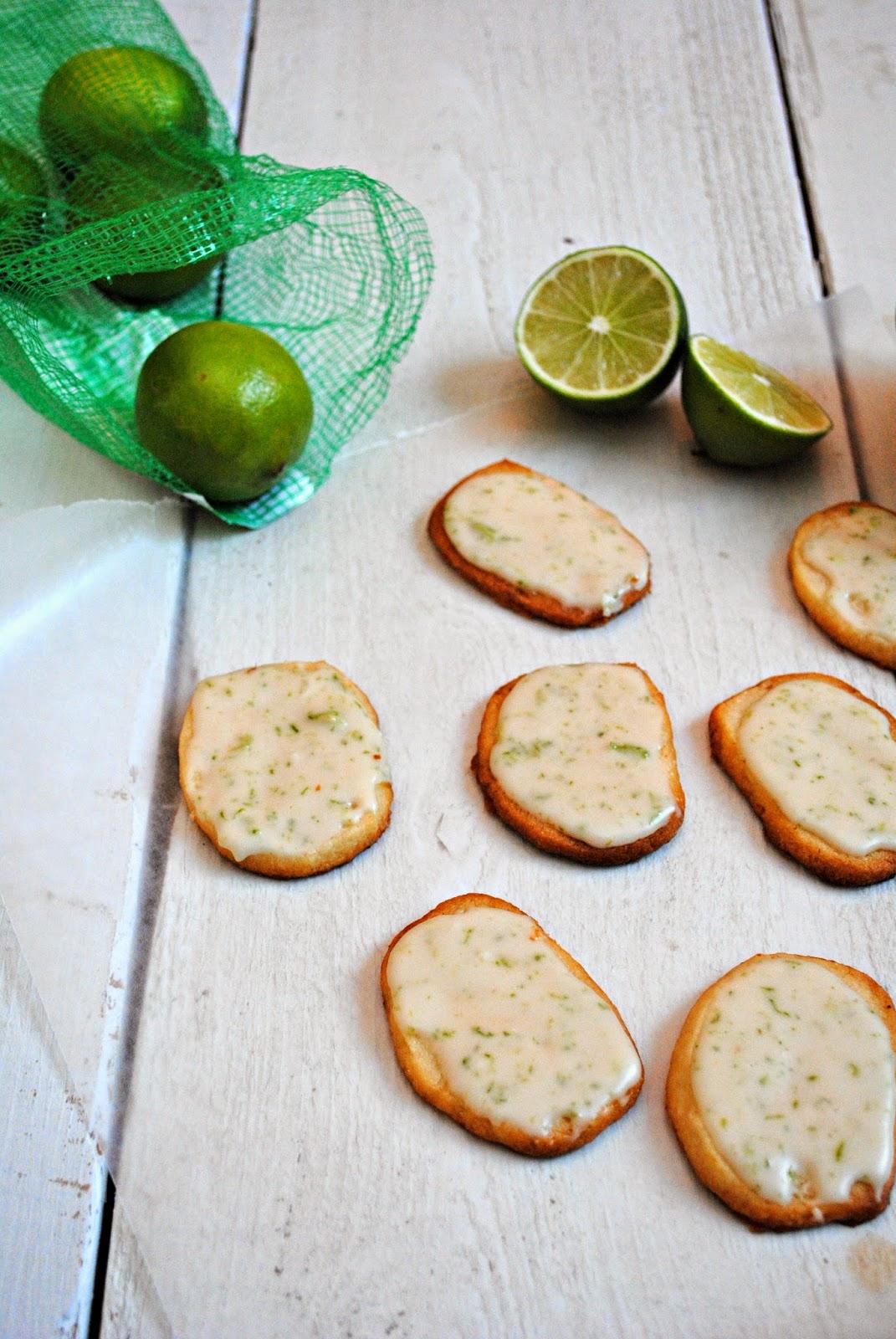 Clove of Garlic, A Pinch of Salt: I'm Here! + Lime-Glazed Cookies
