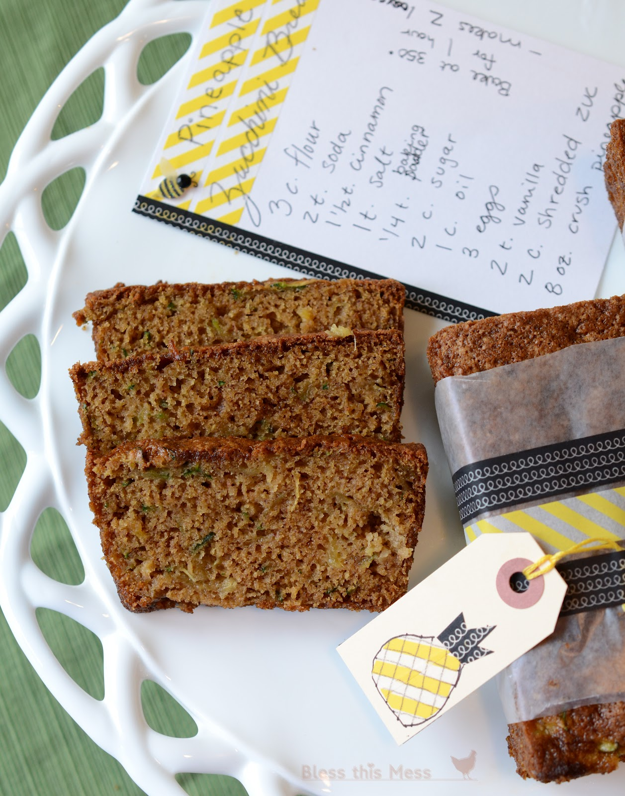Zucchini Pineapple Bread and a Giveaway - Bless This Mess