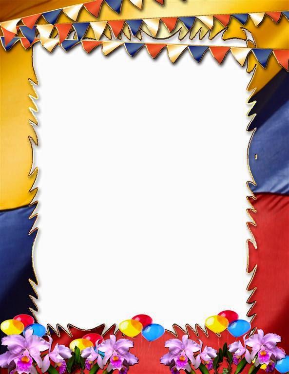 Marco para fotos con patriotismo colombiano   Photo Frames