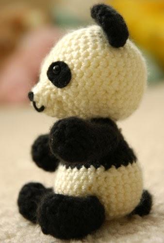 Patrones Amigurumi: Pablo, el panda jugueton