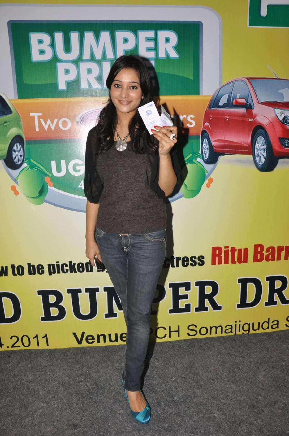 Ritu Barmecha At Bumper Prize Launch Party Cute Stills Photogallery