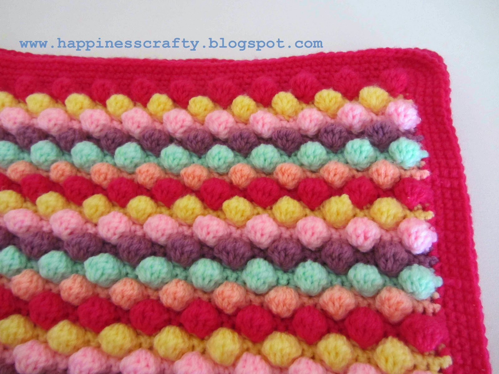 Free Crochet Pattern Bobble Baby Blanket : Happiness Crafty: ??????? 2015