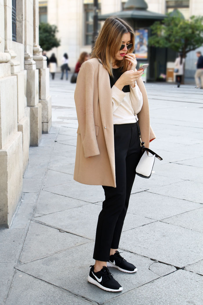 Black and white and a touch of camel