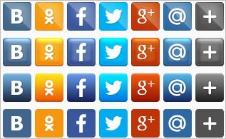 новые социальные кнопки от pluso