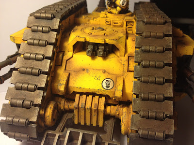 Front of the Armoured Proteus Land Raider