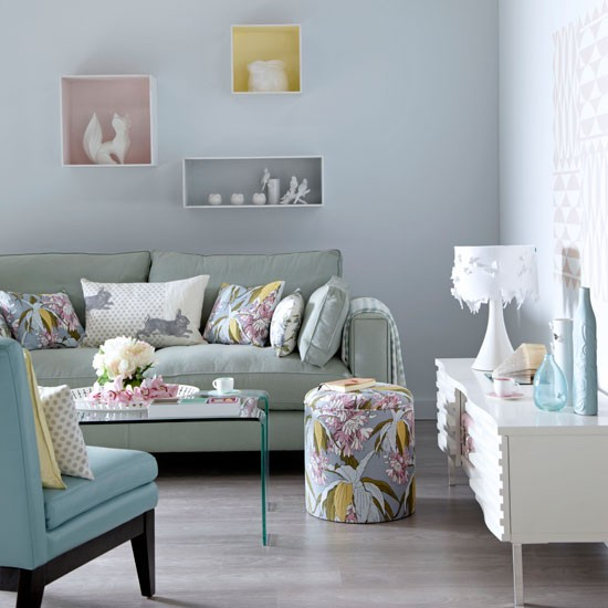 Creative Influences Lighten Up - Grey and lilac living room