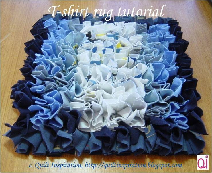 Quilt Inspiration Waste Not Want Not T Shirt Rug Tutorial