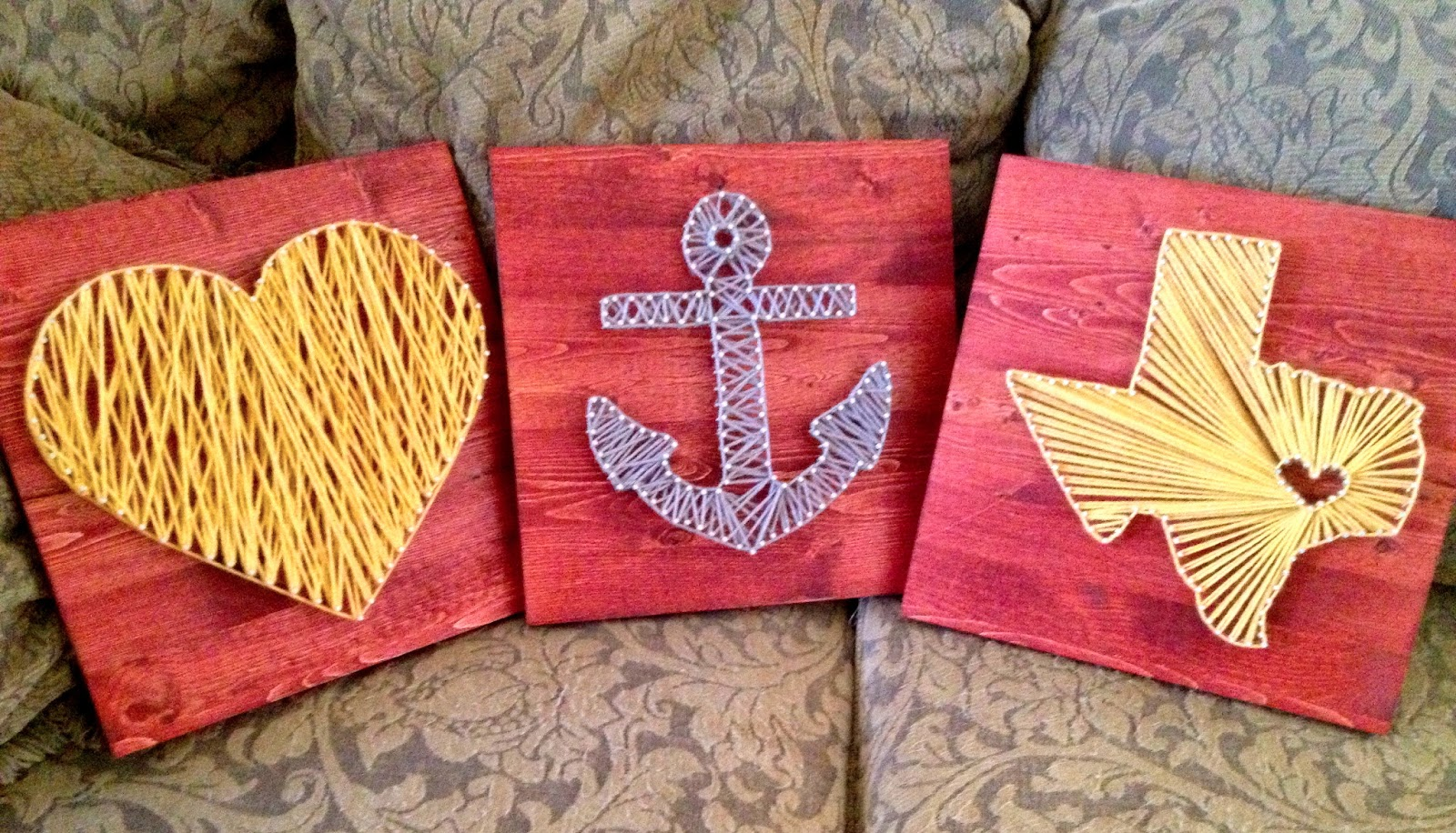 Design Yarn Art diy yarn art anchors aweigh art