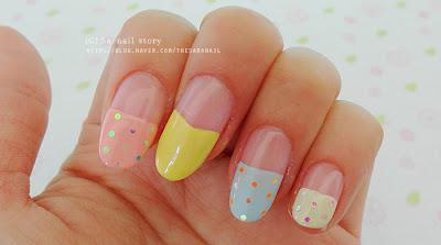 spring tulip nail art