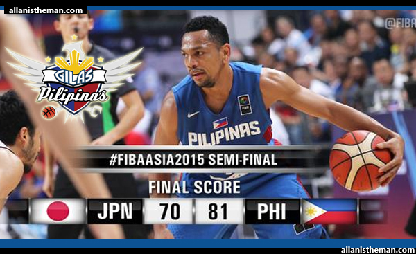 Gilas Pilipinas downs Japan, 81-70 to reach FIBA Asia 2015 Finals (VIDEO)