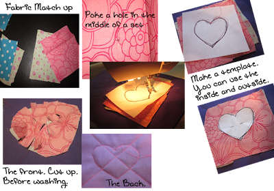 Adding a Quilted Heart to Rag Quilt