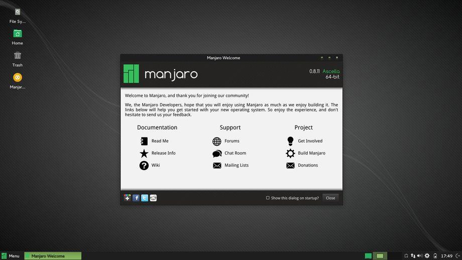 Manjaro 0.8.11 XFCE