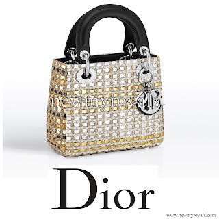 Lady Kitty Spencer style DIOR Lady Diormini Bag
