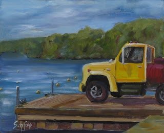 Kathy Schifano, Kath, Yellow Truck at Youngstown Yacht Club